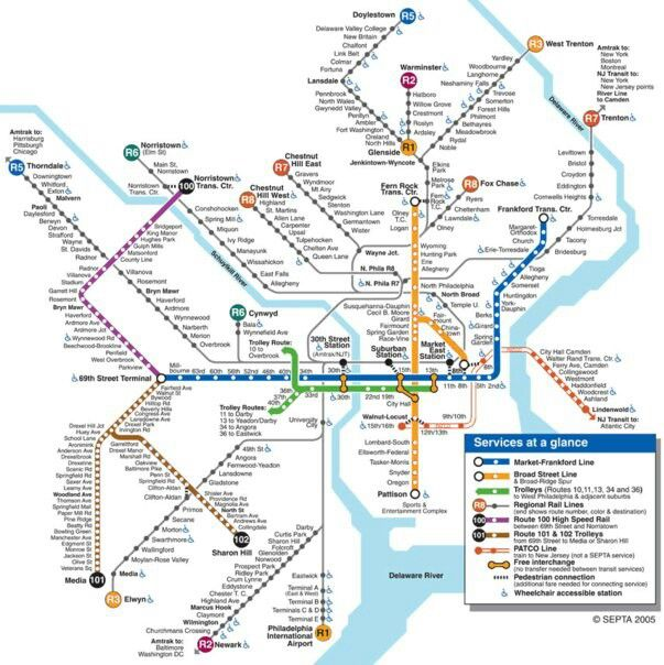 SEPTA MAP  Design Admiration  Pinterest