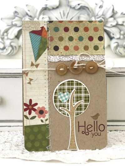 Trendy Tree Tops Hello Card by Melissa Phillips for Papertrey Ink (April 2012)