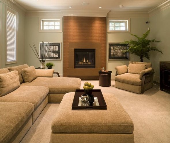 Beige Sage Brown Living Room Diy Living Rm Pinterest