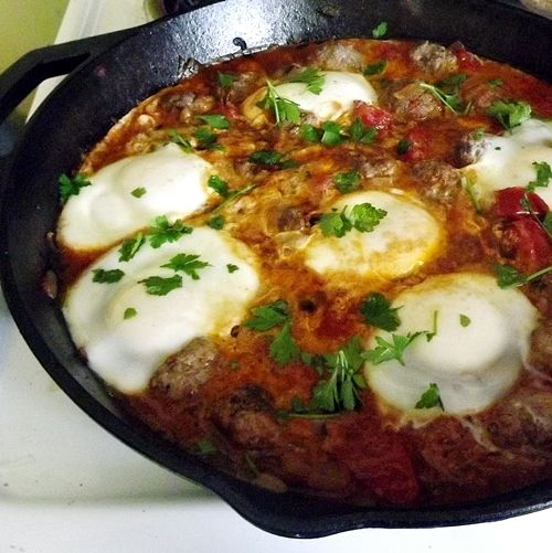 kefta tomato and egg tagine recipe food republic kefta tomato and egg ...