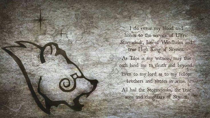 Ulfric Stormcloak Quotes Skyrim-Stormcloaks | S...