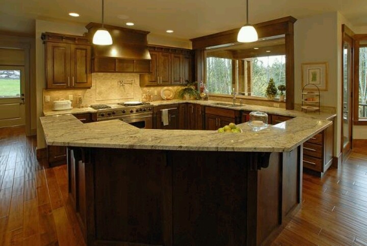 Kitchen With Large Island Kitchen Ideas Pinterest