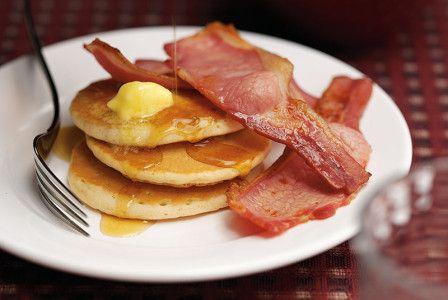 Bacon & maple syrup pancakes | Sainsbury's Christmas Inspiration
