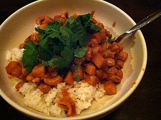 Chickpea coconut mint curry. I like that it uses fresh mint. Omit ...