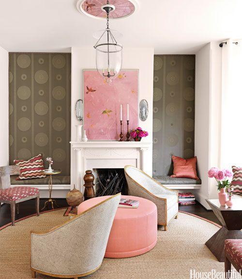 livingroom white pink rose