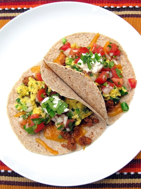 Scrambled Egg And Sausage Tacos With Avocado And Scallion Recipe ...