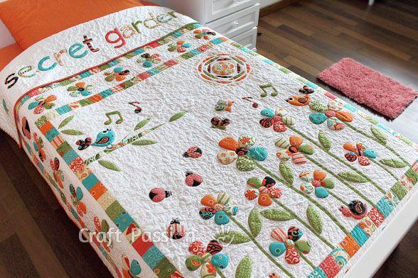 Quilting Trapunto Designs : Secret Garden Trapunto - Free Quilt Pattern