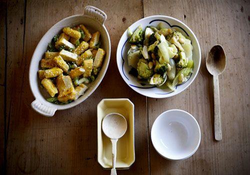 Hoisin Lemon Tofu and Almonds and Vegetarian Sang Choi Bao. Yummy ...