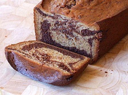 Marbled Chocolate Banana Bread. I make banana bread, but now I want to ...