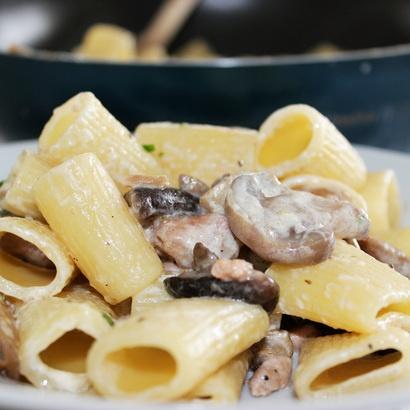 Creamy Pasta With Crispy Salami Recipe — Dishmaps