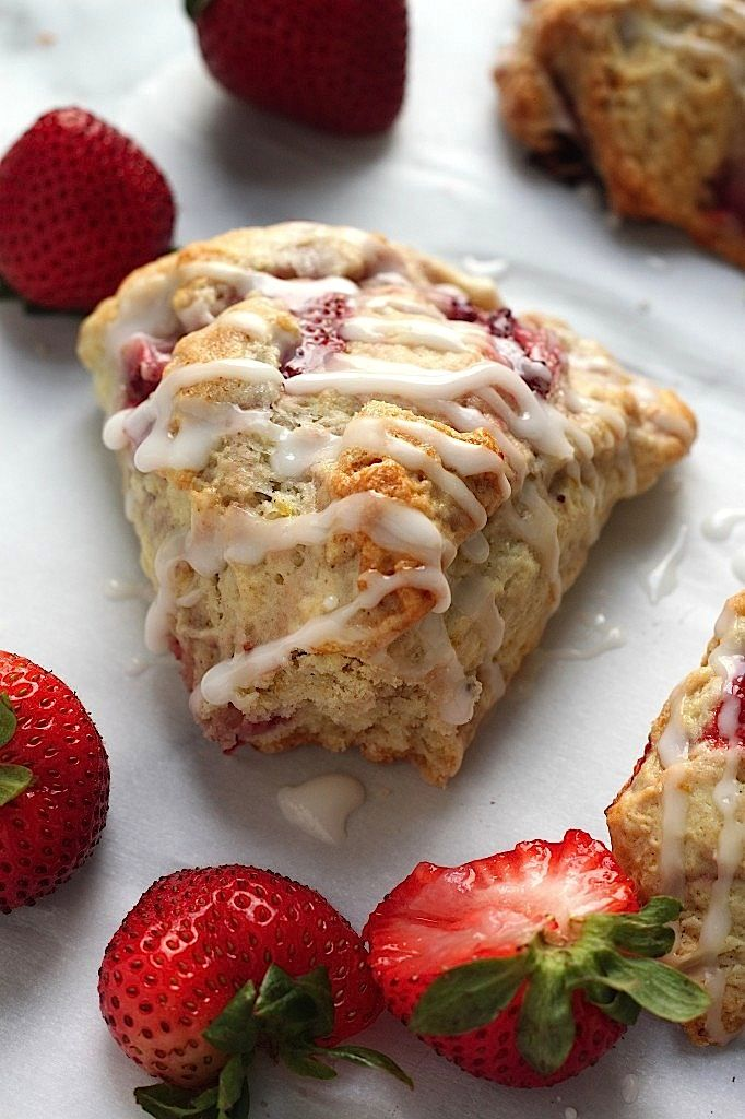 Fresh Strawberry Scones with Lemon Glaze - you're going to LOVE these ...