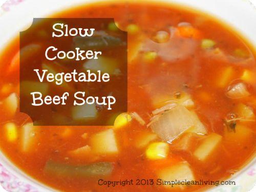 Slow-Cooker-Vegetable-Beef-Soup | Slow Cooker | Pinterest