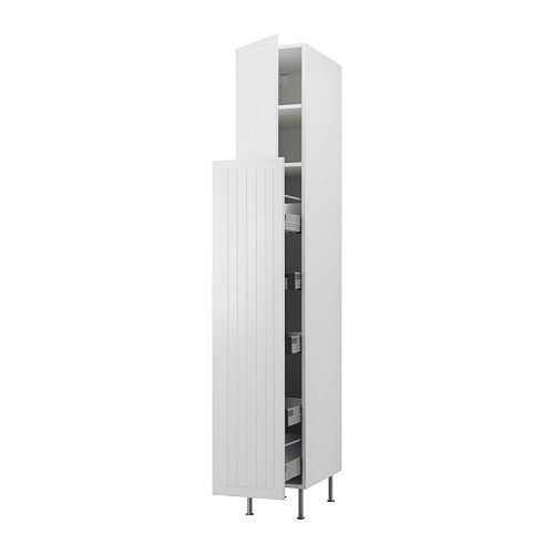 Pull Out Pantry Cabinet Ikea: AKURUM High Cab W Pull-out Storage/2 Doors, White, Härlig