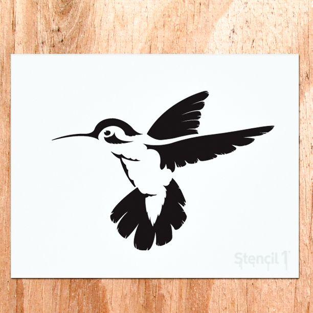 Hummingbird Stencil Hummingbird stencil design
