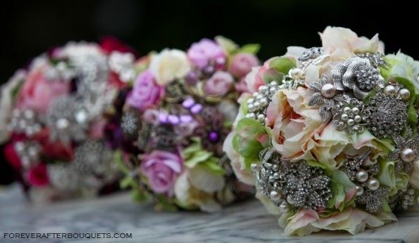 , vintage, and completely made-to-order brooch bouquets from Forever ...
