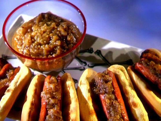 Green Tomato Chutney Dog Recipe : Food Network - FoodNetwork.com