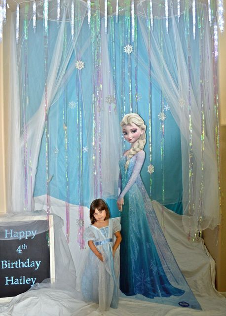 Frozen elsa party birthday party ideas for Anna decoration in home