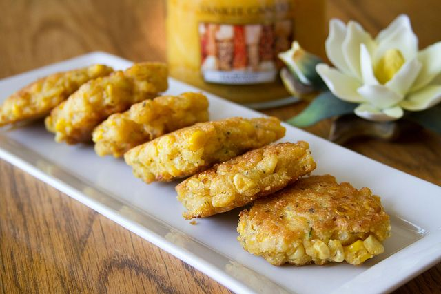 Corn and Summer Squash Cakes - 7 by Sugarcrafter, via Flickr