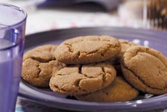Giant Low Fat Ginger Cookies Recipe | RECIPE CORNER