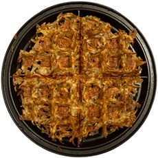 hash browns in the waffle iron makes them crispy! genius! lindsieelwood