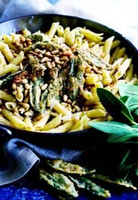 fried sage and parmesan penne | Eat This, Drink That | Pinterest