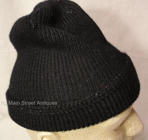 Watch Cap Knit Pattern : Vintage WWII US Navy Wool Knit Watch Hat Cap
