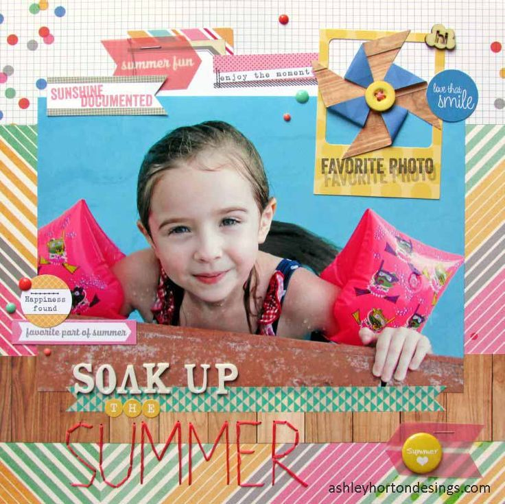 Soak Up the Summer - Scrapbook.com