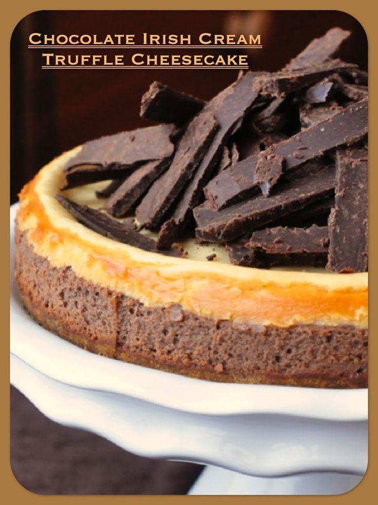 Chocolate Irish Cream Truffle Cheesecake