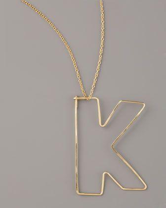GaugeNYC Letter-Pendant Necklaces - Neiman Marcus