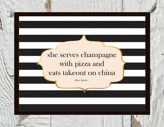 She serves champagne with pizza and eats takeout by CraftandCandor Sooo me!!!