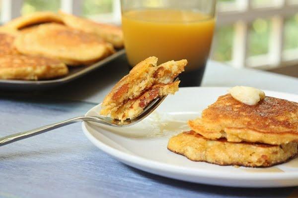 Sweet Corn and Bacon Pancakes Recipe | Breakfast | Pinterest