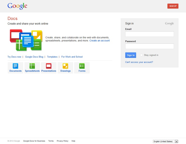 Google docs sign in page sign in page pinterest for Www google docs sign in