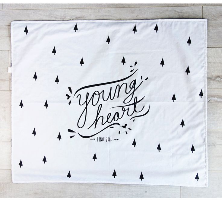 Young Heart toddler or baby blanket at Designed by Artists