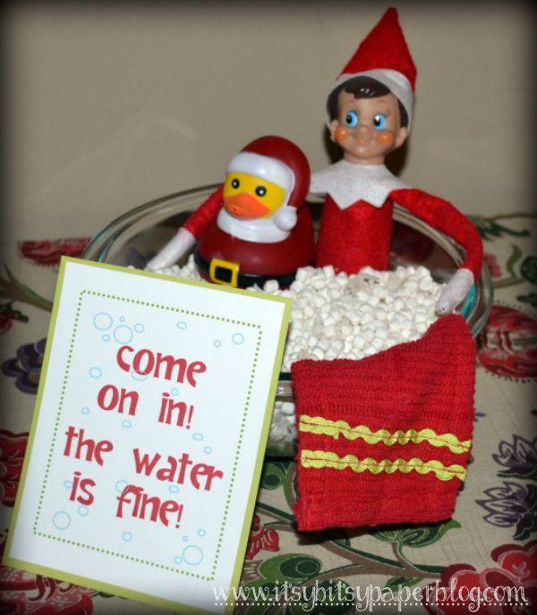 Itsy Bitsy Paper: Elf on the Shelf | Elf on the shelf | Pinterest