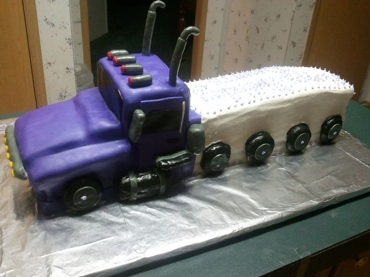 18 wheeler cake ideas