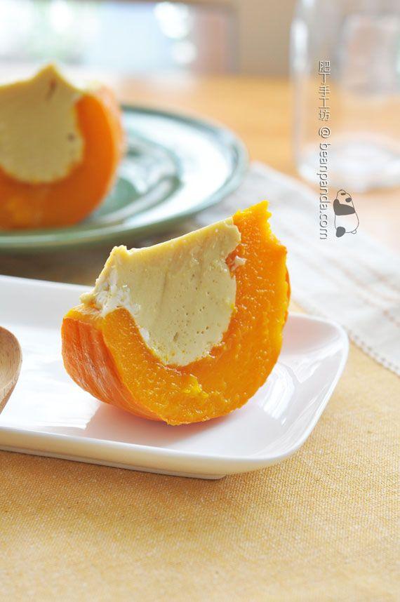 pumpkin pudding 南瓜布丁 ♥ Dessert | Asian dessert | Pinterest