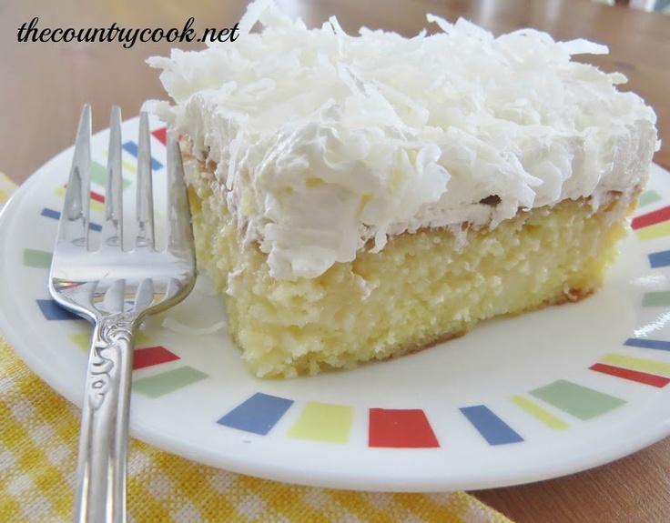 Piña Colada Poke Cake | Cake Mix Ideas | Pinterest