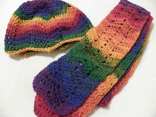 One-Skein Chevron Scarf Crochet / Knit Pinterest