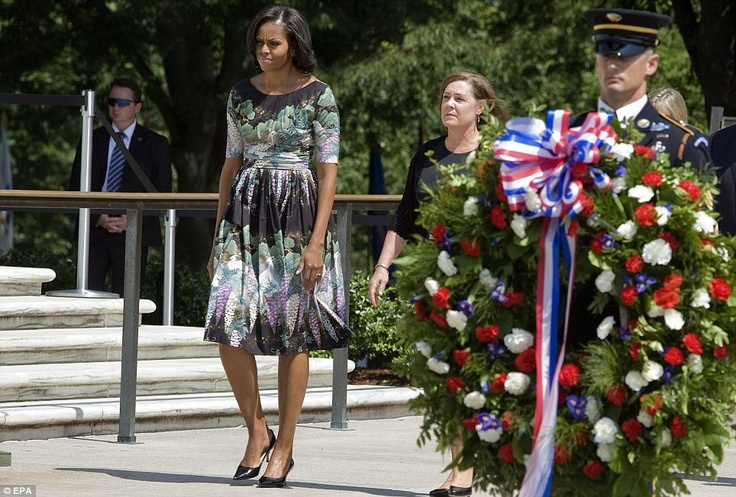 michelle obama memorial day pictures