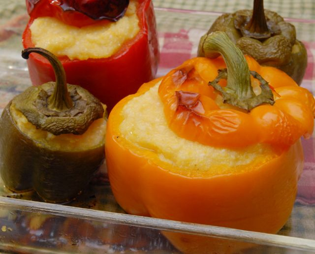 Polenta Stuffed Peppers | ! A Permanent Health Kick ! - Healthy Livin ...