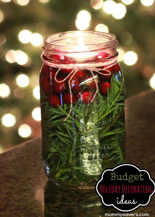 Frugal Holiday Decorating DIY Ideas - Use what you have at home!  {free and CHEAP}