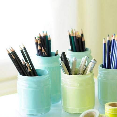 Diy tutorial diy mason jars diy painting pastel glass jars for How to paint glass jars