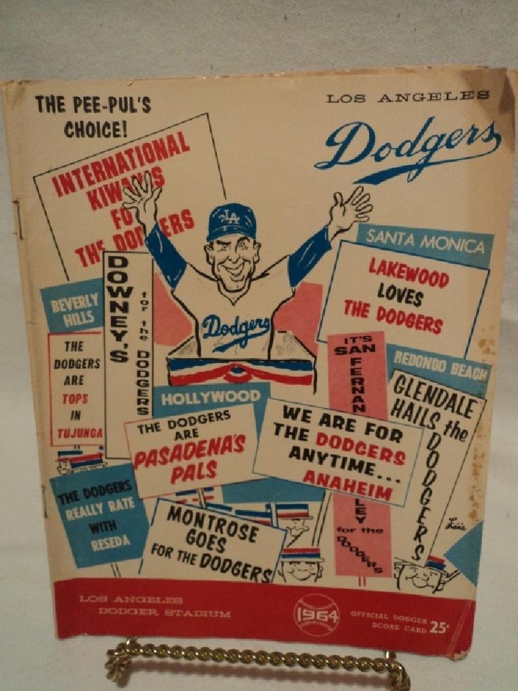 Los Angeles Dodgers Printable Schedule 1964 Los Angeles Dodgers Score Card Program st Louis Cardinals Ebay