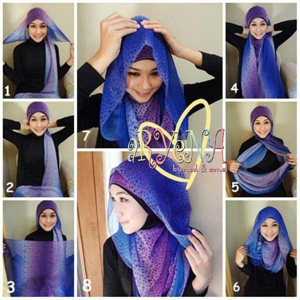 Tutorial hijab ~ Scarf/ pashmina | WidSoe | Hijab ~ Tutorial | Pinter