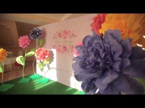 Большие декоративные цветы из бумаги