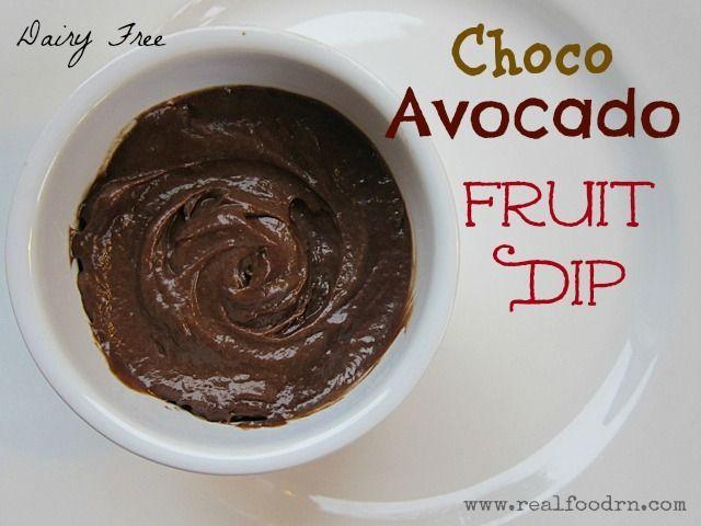 Choco-avocado fruit dip! A great dip for fruit. Also contains healthy ...