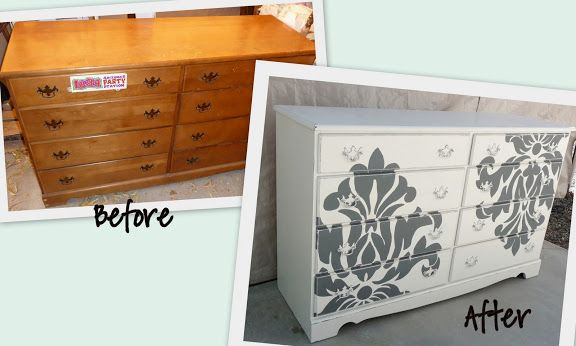 before and after painted furniture paint it pinterest