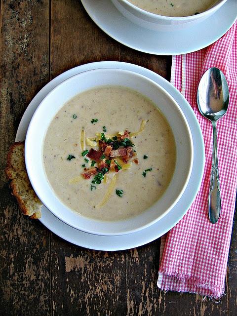 bacon, potato, leek soup | Recipes | Pinterest