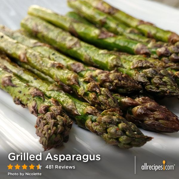 "Grilled Asparagus | ""The special thing about this recipe is that it'..."