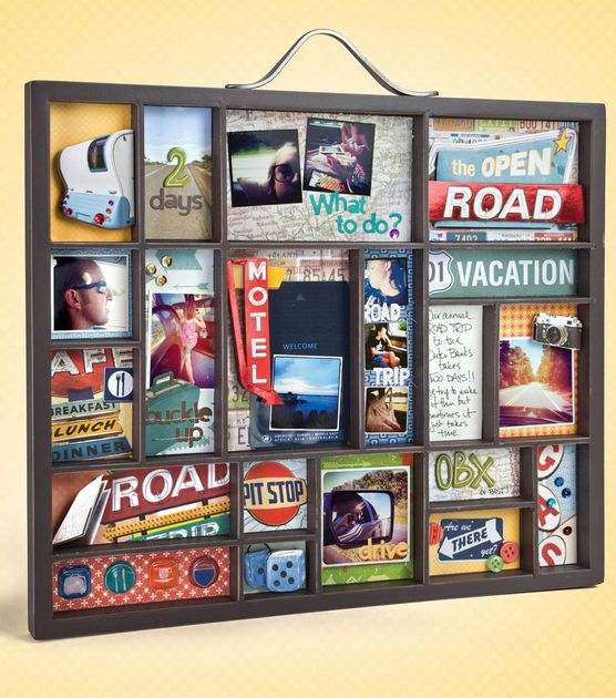 Compile your memories together in a printer's tray for a unique look!